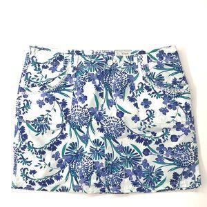 Chill Blue Floral Skort